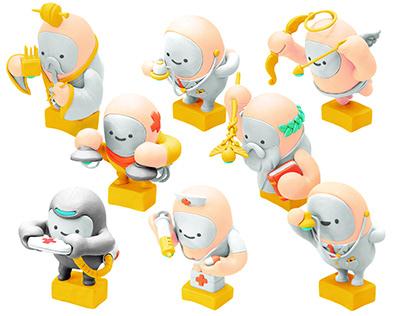 Character figures design / Plasticine