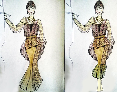 Night dress fashion design