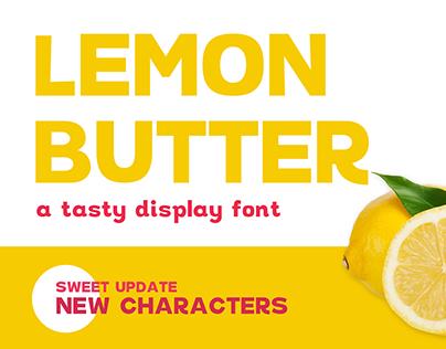 Lemon Butter Display Font