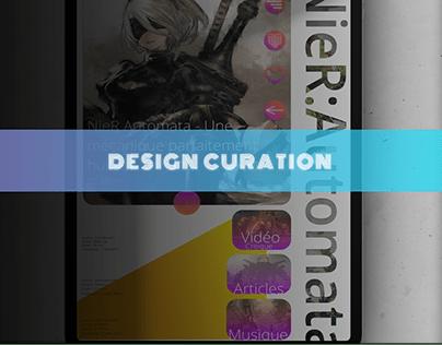 Design d'une application de curation tablette