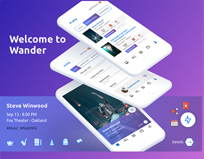 Wander app for Events