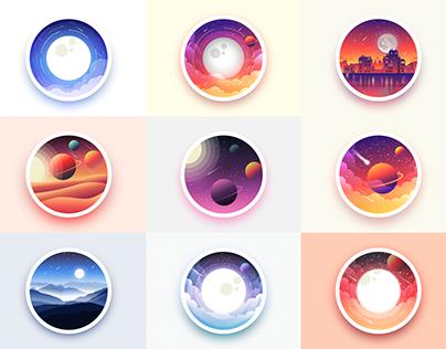Badges landscape vol.1
