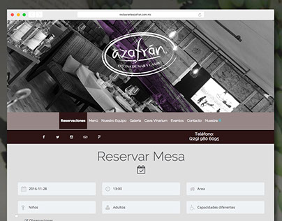 Restaurante Azafrán Veracruz WebSite