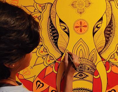The Elephant Mandala Wall Mural