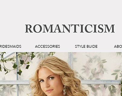 Bridal website - homepage mockup