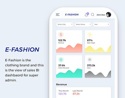 Clothing Brand BI Dashboard for Super Admin