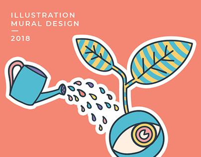 Company Values . Mural Design