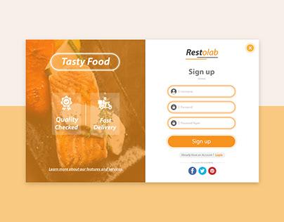 Modern Sign up Form for websites
