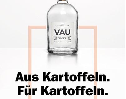 VAU Vodka Branding und Kampagne