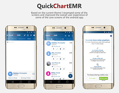 QuickChartEMR Android App UI/UX improvements