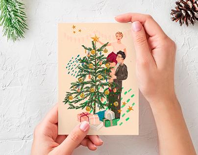 Christmas card for cafe