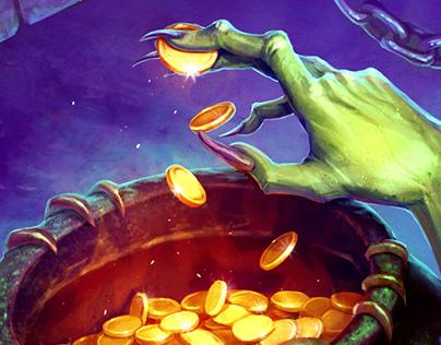 """Halloween illustration for """"Vikings"""""""