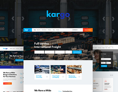 Kargo | Logistics & Transportation PSD Template