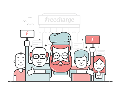 Illustrations for Freecharge