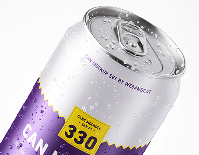 330ml Can Mockup Set