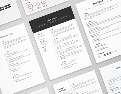 11 Creative Resume Templates Bundle | AI
