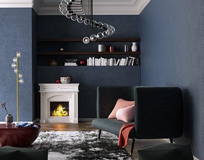 CGI: COZY LIVING ROOM