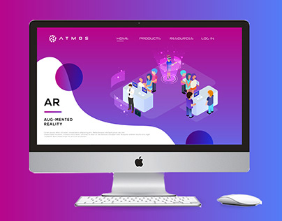 Augmented Reality Landing Page Design