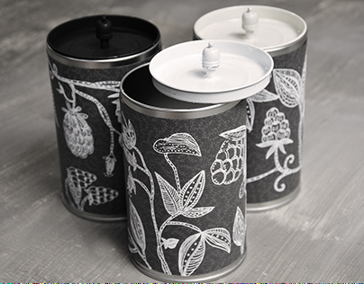 Berry Illustration/Candle Packaging Design