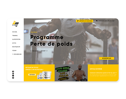 All musculation - Landing Page