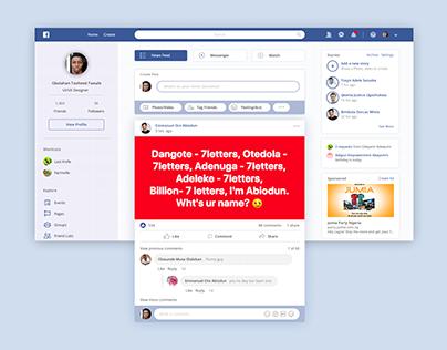 Facebook 2019 Redesign