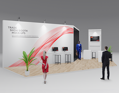 Trade Show Booth / Displays Mock-Ups Vol.3