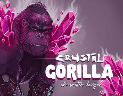 Crystal Gorilla Character Design
