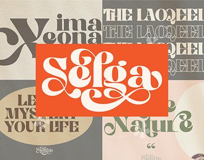 FREE Selga is a retro display font