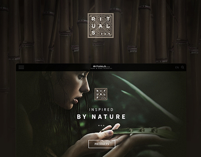 Rituals: Online catalogue /  Personal project