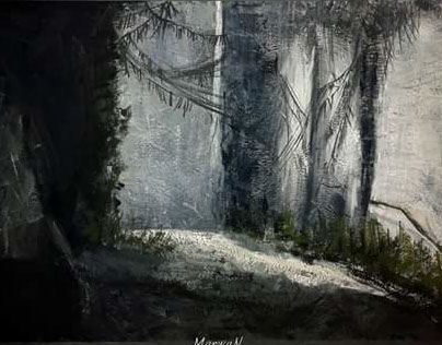 A scene in a cave
