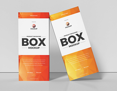 Free Product Packaging Box Mockup Design