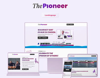 Landingpage Gabor Steingarts 'ThePioneer'