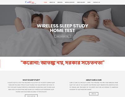 Website Design & Development for Care & Cure Clinic