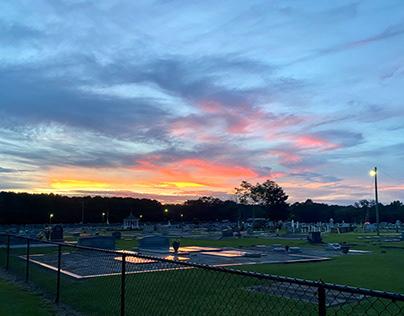 Cemetery at Sundown