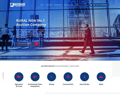 Macquarie Auction Group - Mockup Website Design