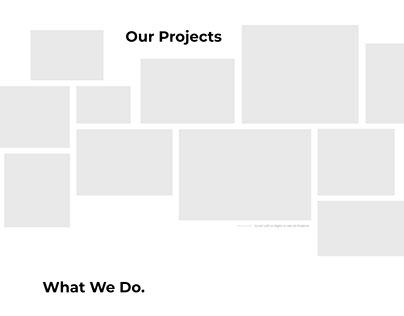 Wireframe Design for Agency Website (Bluamobea)
