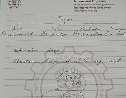 Class note: Info design 2018, DIC, IIT Powai