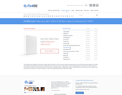 Design for Fix4Dll website
