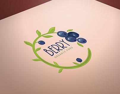 Blueberry organic food readymade logo design
