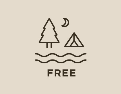 Camping: Free Vector Icons