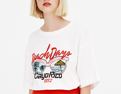 Pull&Bear graphic T-shirt SS '18
