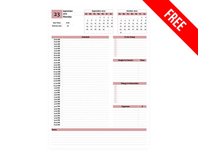 Super Simple Daily Planner - free Google Docs Template