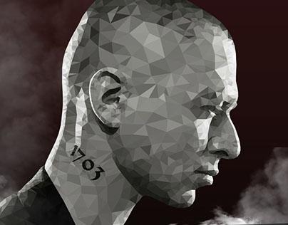 Oxxxymiron - polygonal portrait (art)