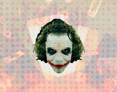 Joker | Low Poly Vector Illustration