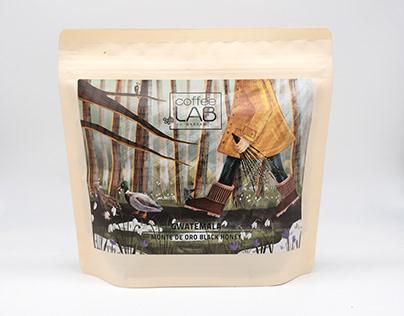 Coffee packaging illustration: CoffeeLab