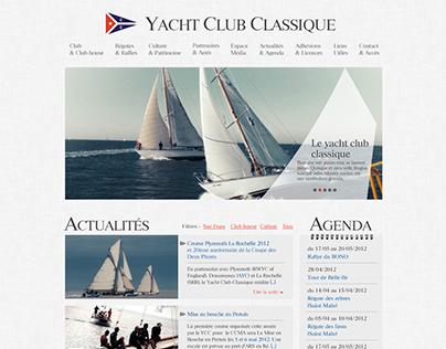 Yacht Club Classique - Web design