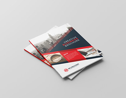 Bi-Fold Business Brochure Design With Creative Mock-up