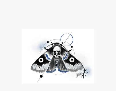 Moth Tattoo Motive - Xclusiv Ink