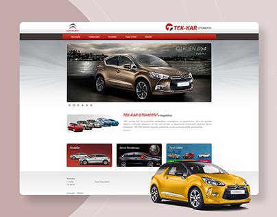 Tek-kar Citroen Website Design