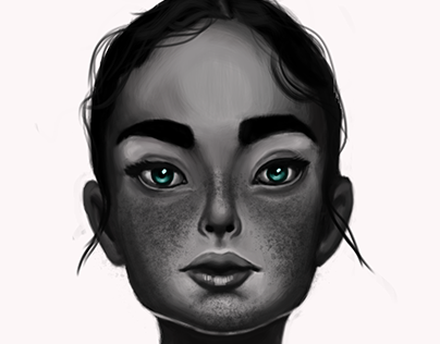 Krita digital portrait